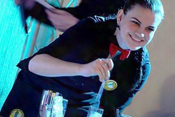 Sandra Stupňanová vyhrala barmanskú súťaž v Bratislave.
