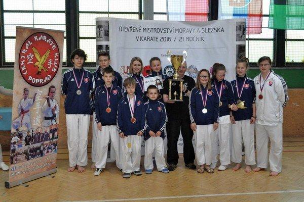 Bol najúspešnejší. Central karate klub Poprad.