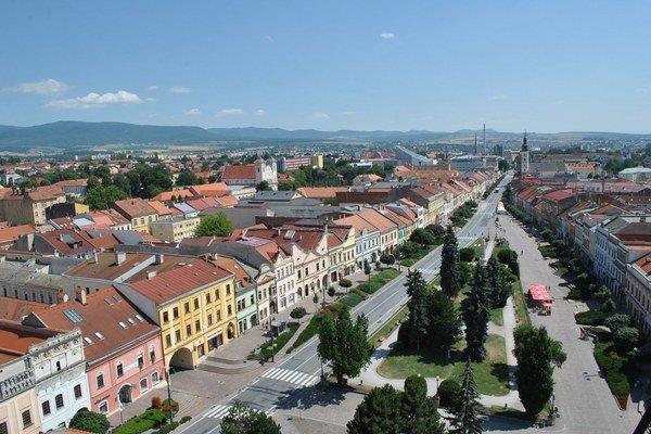 Prešovské námestie s Južným parkom.