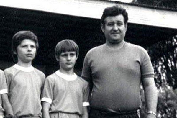 Imrich Porubský na archívnej snímke ako tréner mládeže.