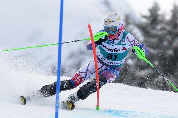 Adam Žampa. V Adelbodene obsadil 23. miesto v slalome.