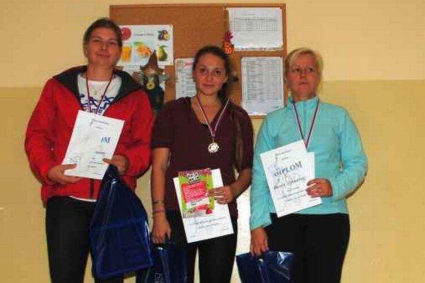 Timea Mihoková (uprostred) Celkovo skončila tretia.