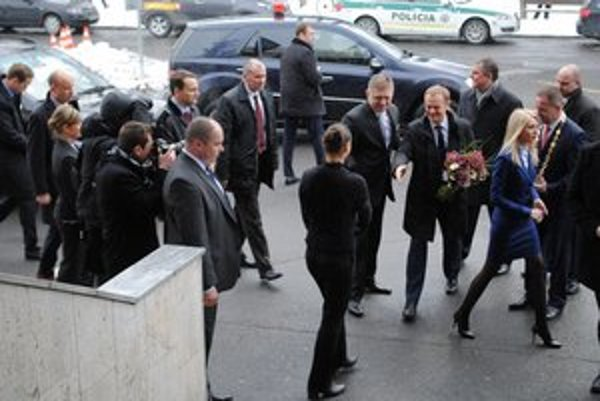Privítanie v Poprade. Pod Tatrami rokovala slovenská a poľská vláda.