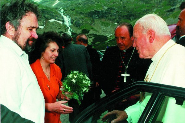 Ján Pavol II. vo Velickej doline.