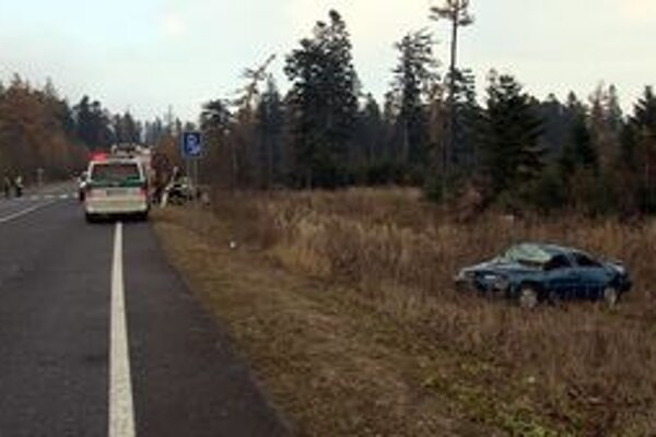 Vodič zišiel z cesty, museli mu pomáhať záchranári.