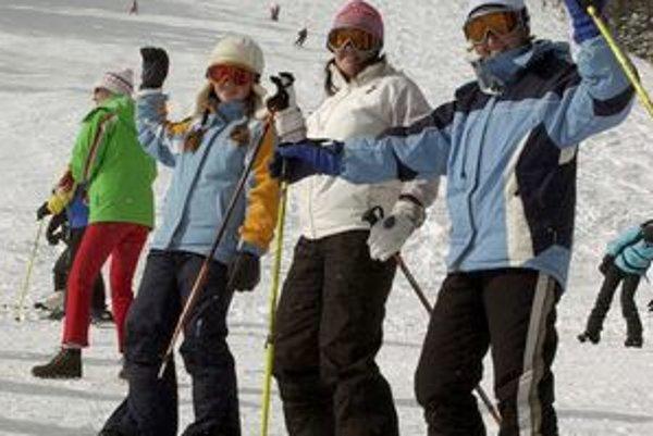 Spomienka na lyžovanie na Hrebienku.