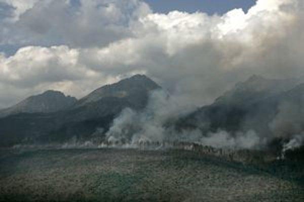 Tatry po kalamite sužovali obrovské lesné požiare. Takto to vyzeralo v júli 2005.