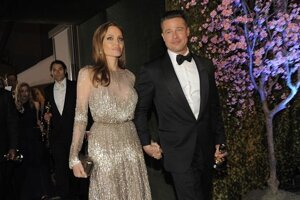 Angelina Jolie s manželom Bradom Pittom