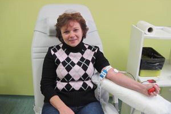 Marcela Šavelová. Krv darovala piatykrát. Hovorí, že ten pocit stojí za to.