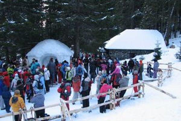 Snehový betlehem láka každoročne do Tatier množstvo záujemcov.