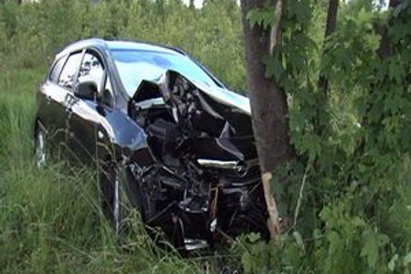 Opel skončil v strome, jeho opitý vodič spôsobil nehodu.
