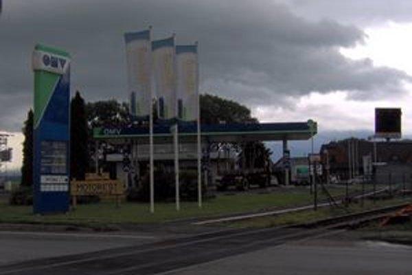 Čerpacia stanica v Spišskej Belej. Tu sa odohral incident v utorok večer.