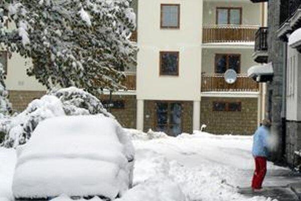 Nádielka. Chotáre od Svitu cez Tatry, Huncovce a Kežmarok dostali nádielku snehu.