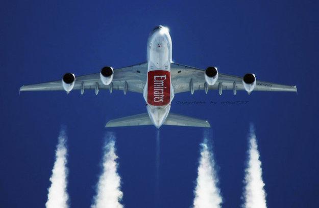 Emirates Airbus 380-800.