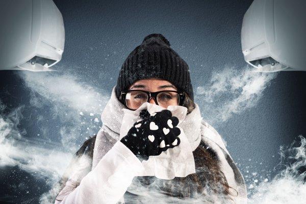 Klimatizáciu treba regulovať.
