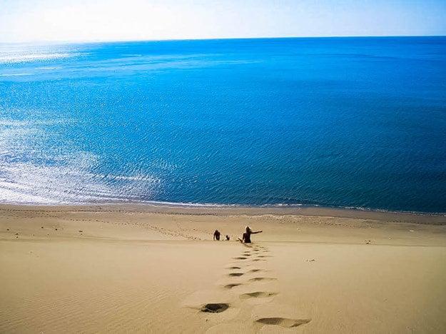 Takýto pohľad sa vám naskytne pri návšteve pláží Shengjin na Jadranskom pobreží v Albánsku.