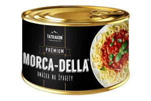 Konzerva omáčky na špagety Morca-Della.
