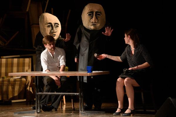 Predstavenie na motívy Mńačkovej poviedky Dvaja kamaráti.