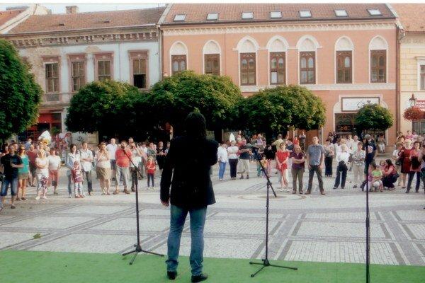 Záber z koncertu.