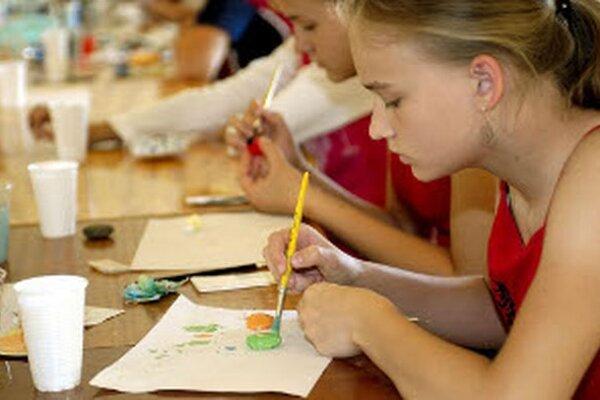 Cez prázdniny sa tvorivé dielne konali vo viacerých inštitúciách.