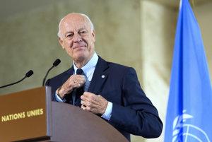 Staffan De Mistura, splnomocnenec OSN pre Sýriu.