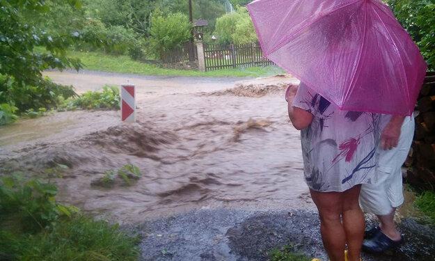 Takto vyzerala situácia v Novej doline v Kremnici.