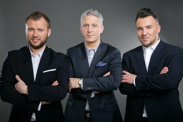 Porotcovia. Trio (zľava) Záhumenský, Ertl, Križan budú rozhodovať v MasterChefovi.