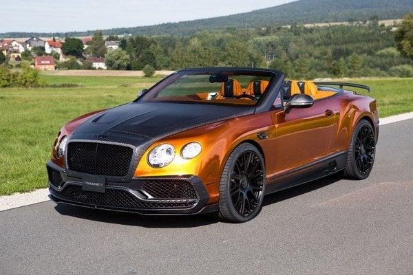 Kabriolet Bentley GTC v úprave Mansory. Použitím uhlíkových kompozitov sa znížila hmotnosť vozidla, výkon motora bol zvýšený na 736 kW, maximálna rýchlosť stúpla na 330 km/h.