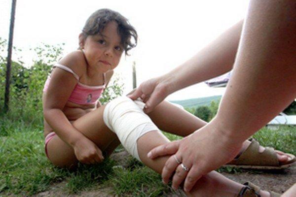 Počas prázdnin sú detské úrazy veľmi časté.