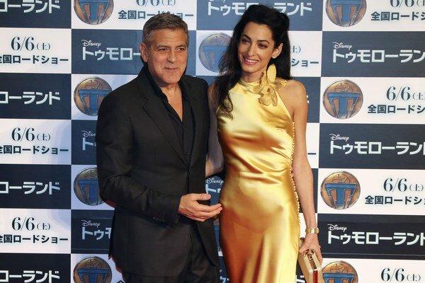George Clooney s manželkou Amal.