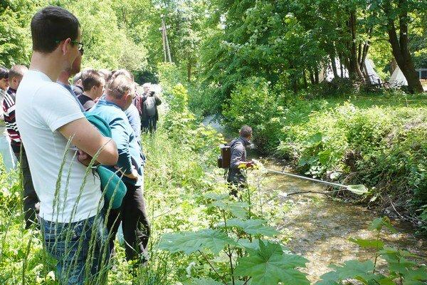 Praktická ukážka na Čermeľskom potoku.