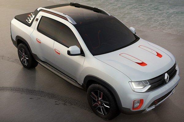 Štúdia Renault Duster Oroch. Na báze modelu Duster postavená štúdia Oroch má premiéru na autosalóne v Sao Paulo a naznačuje úmysel firmy Renault ponúkať v Južnej Amerike aj pikapy.