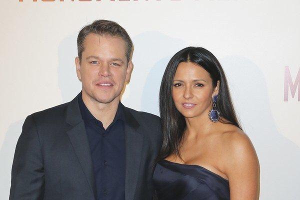 Matt Damon s manželkou.