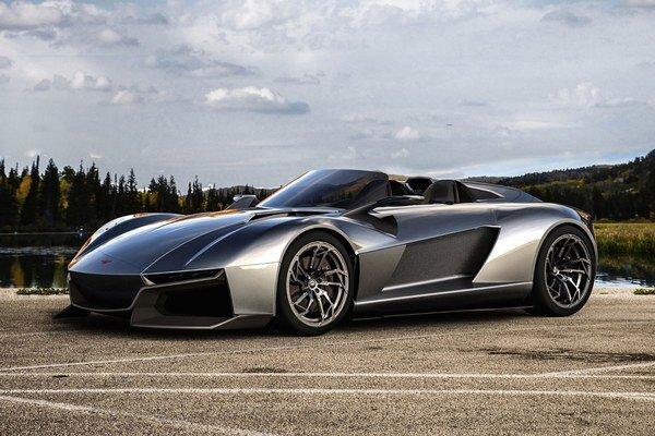 Superšportový automobil Rezvani Beast. Karosériu vozidla, postaveného na podvozku anglického auta Ariel Atom, navrhol renomovaný dizajnér Samir Sadikhov