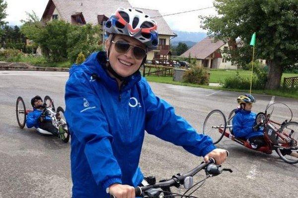 Akčná herečka. Zuzana naťahala na bicykli stovky kilometrov.