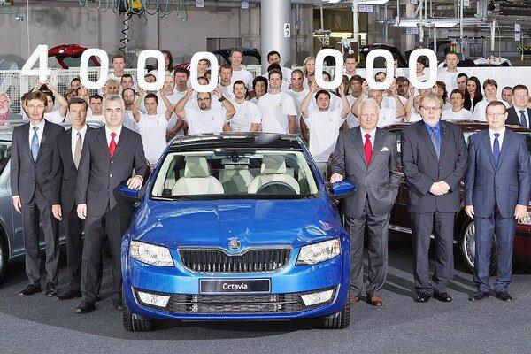 Štvormiliónta Škoda Octavia. Octavia je najúspešnejším modelom v celej doterajšej histórii českej automobilky Škoda a vyrába sa v piatich krajinách.