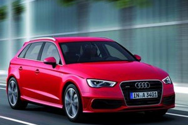 Päťdverové Audi A3 Sportback. Zväčšením rázvoru sa dosiahlo zväčšenie vnútorného priestoru.