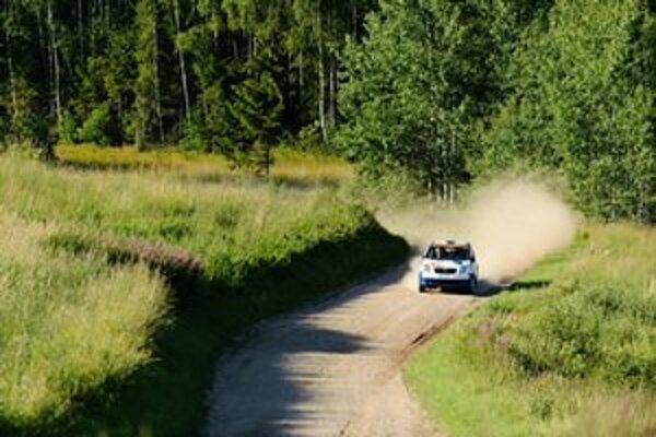 Naša posádka Koči – Zámečník na Auto24 Rally Estonia.