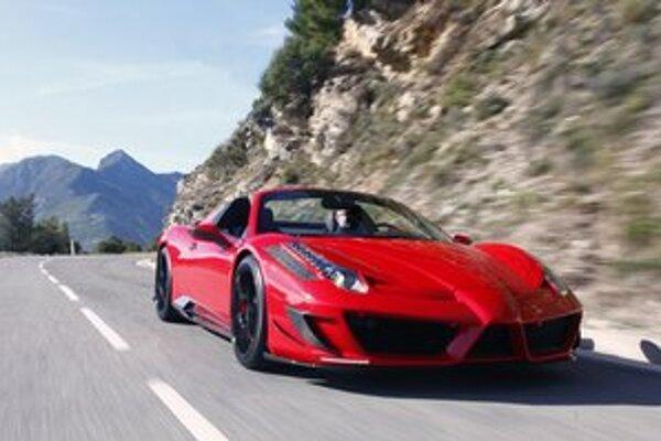 Ferrari 458 Spider Monaco Edition. Verzia Monaco Edition je dielom nemeckej tuningovej firmy Mansory a bude vyrobená len v troch exemplároch.