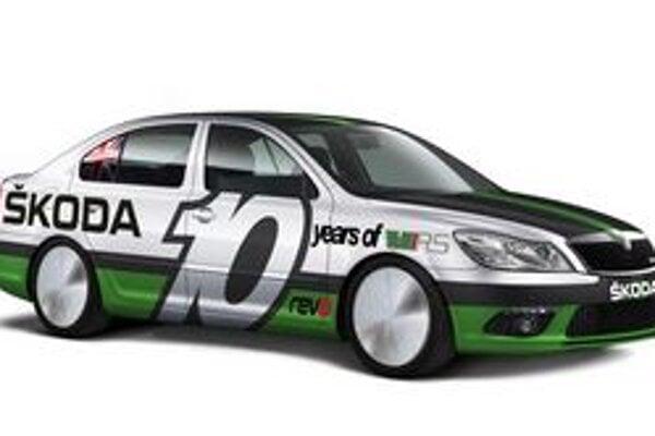 Škoda Octavia Bonneville Special. Vozidlo na rekordnú jazdu upravil britský dovozca automobilov Škoda.