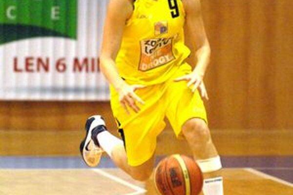 Angelika Oravcová. Hráčka Dannax Sportu Košice dala v sobotu šesť bodov.