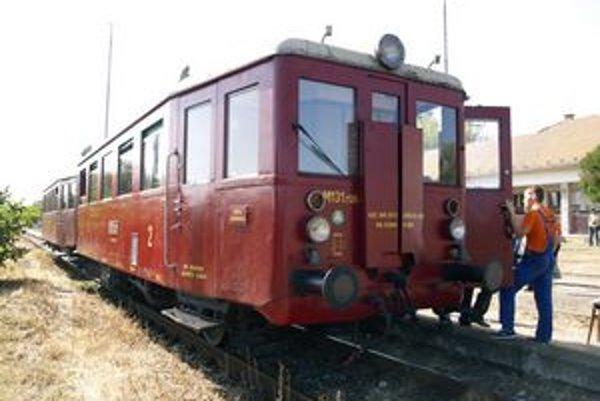 Motorový vozeň M 131.1125. Boli prvými motorovými vozňami, ktoré sa začali vyrábať po skončení vojny.