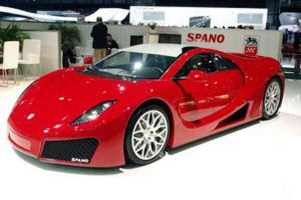 Superšportový automobil GTA Spano. Výrobcom vozidla je malá španielska firma GTA Motor.