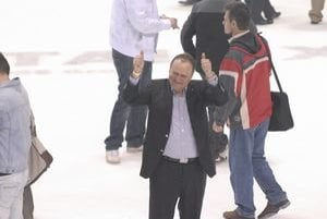 Generálny manažér košického klubu Juraj Bakoš prejavil pocity šťastia.