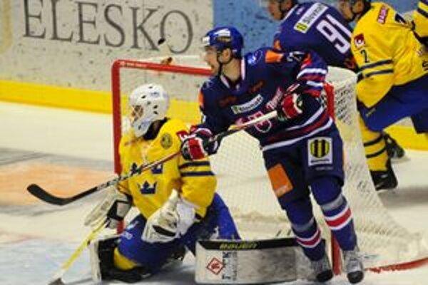 Tomáš Marcinko. V Steel Aréne proti Švédsku mal reprezentačnú premiéru.