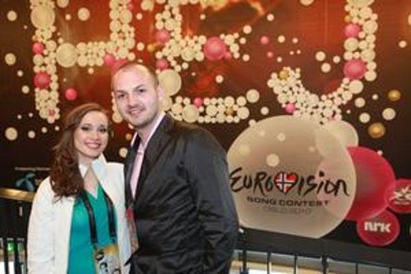 S Kristínou v Osle. Počiatočné úsmevy sa na konci Eurovízie zmenili na sklamanie.