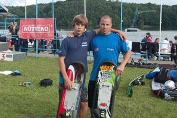 Úspešní reprezentanti. Alexander Vaško mladší (vľavo) a Miroslav Hríbik z košického Trixenu.