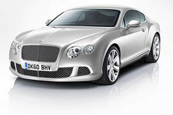 Kupé Bentley Continental GT. Modifikovanej prednej časti dominuje štvorica reflektorov a typická mriežka chladiča.