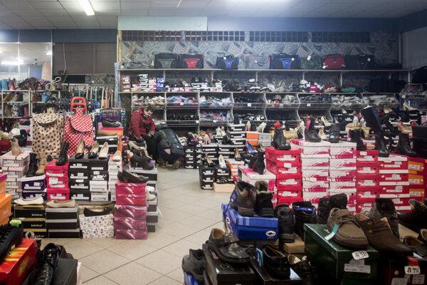 Predajňa s topánkami.