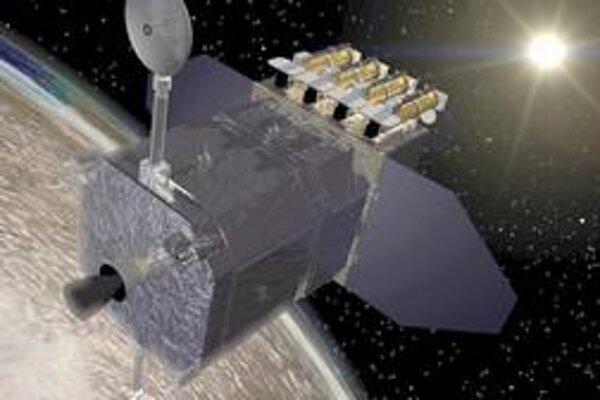 Kresba družice SDO. Družica SDO bude na Zem vysielať každých desať sekúnd veľmi podrobné snímky Slnka.